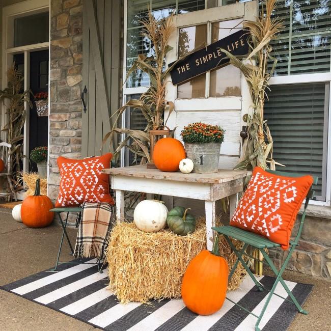 Einen märchenhaften Herbstgarten gestalten – farbenfrohe Ideen und Tipps balkon veranda deko
