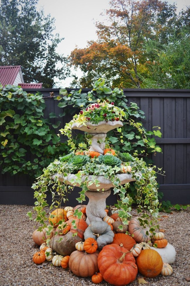Einen märchenhaften Herbstgarten gestalten – farbenfrohe Ideen und Tipps herbst arrangements springbrunnen