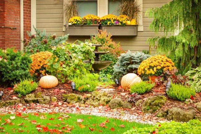 Einen märchenhaften Herbstgarten gestalten – farbenfrohe Ideen und Tipps herbst garten ideen elemente