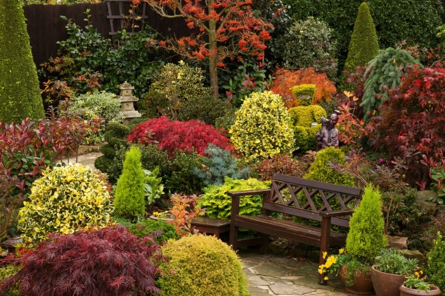 Einen märchenhaften Herbstgarten gestalten – farbenfrohe Ideen und Tipps japanischer garten ideen magisch
