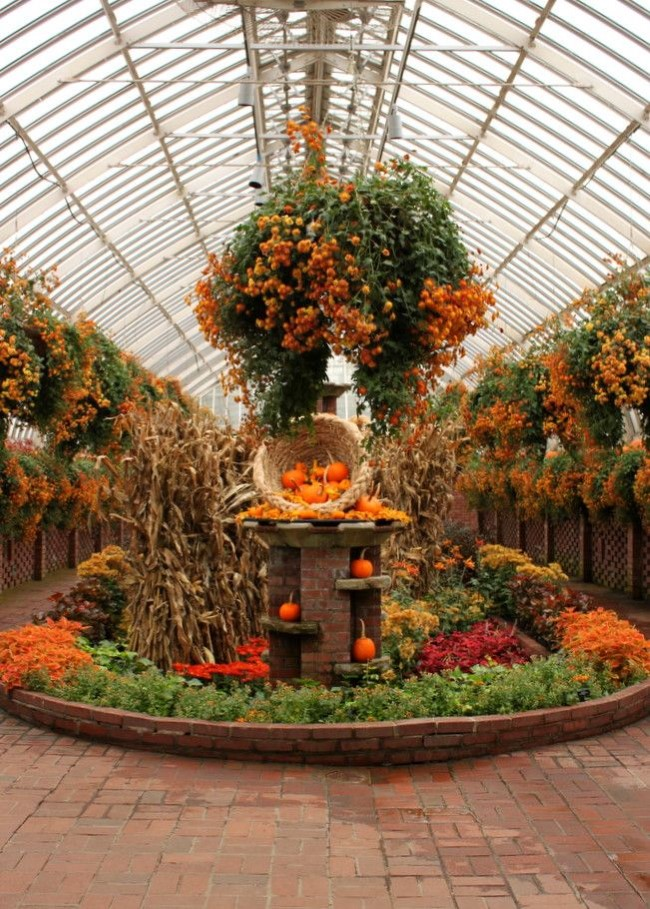 Einen märchenhaften Herbstgarten gestalten – farbenfrohe Ideen und Tipps wintergarten ideen deko gewächshaus