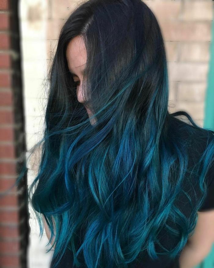 Haarfarben Trend 2021 getunkte spitzen