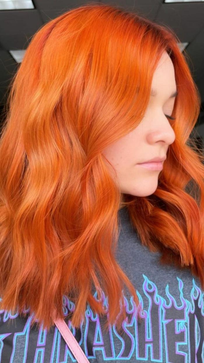 Haarfarben Trend 2021 warme farben kupfer