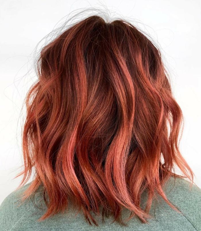Haarfarben Trend 2021 warme farben rot