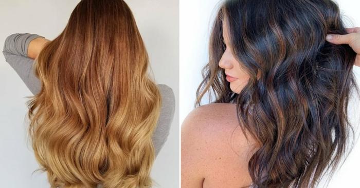 Haarfarben Trend 2021 warme farben