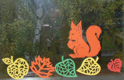 Herbst Fensterbilder Acryl Ideen