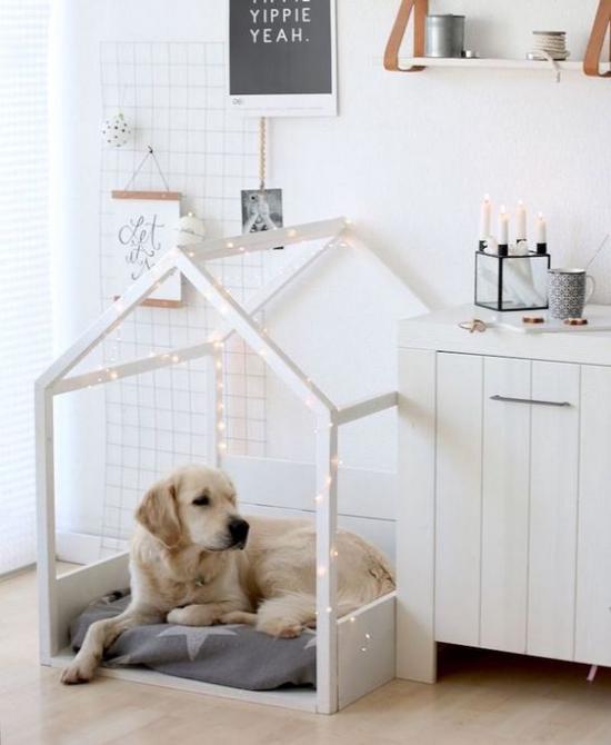 Hundebetten Lichter schöne Deko ausreichend Platz zum Recken und Strecken