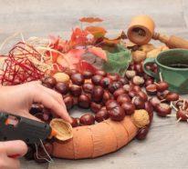 Kastanienkranz basteln zum Herbst – kreative Ideen und kinderleichte Anleitung