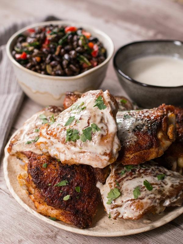 Kohlenhydratarmes Hähnchengericht ketogenes Rezept