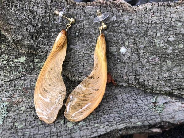 Mit Epoxidharz basteln zum Herbst – Ideen und Anleitungen für Schmuck und Deko ahornsamen ohrringe einfach schön