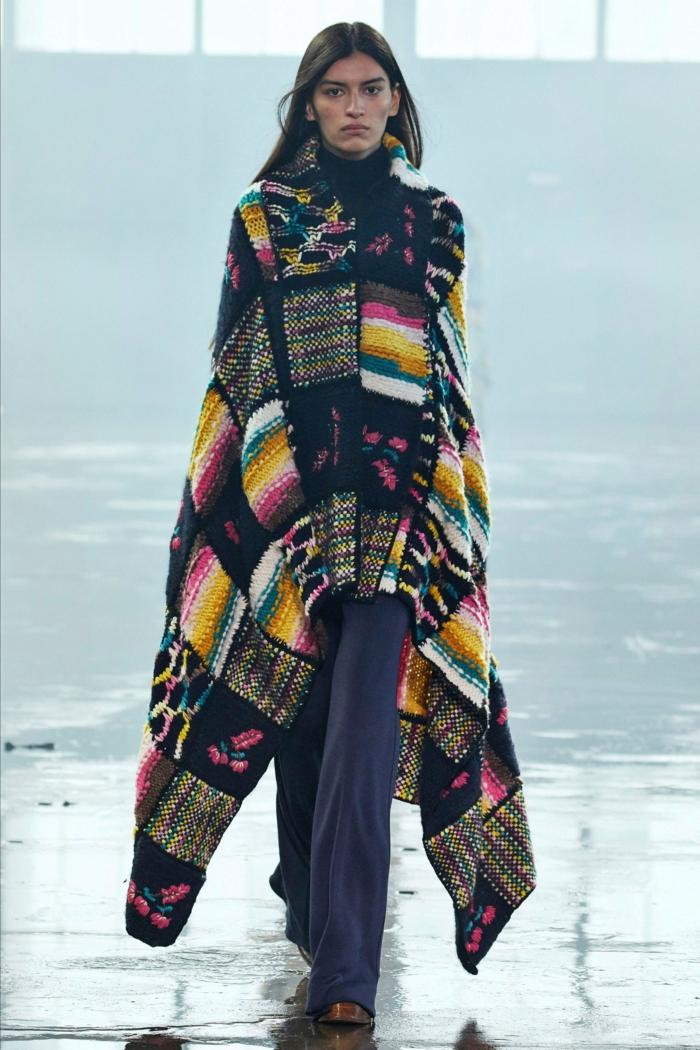 Modetrends Damen 2021 gut umwickelt poncho