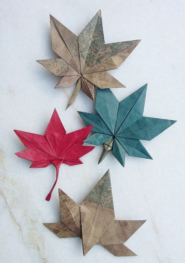 Origami Herbst Deko selber machen – Ideen und Anleitung nach japanischer Art origami blätter japan