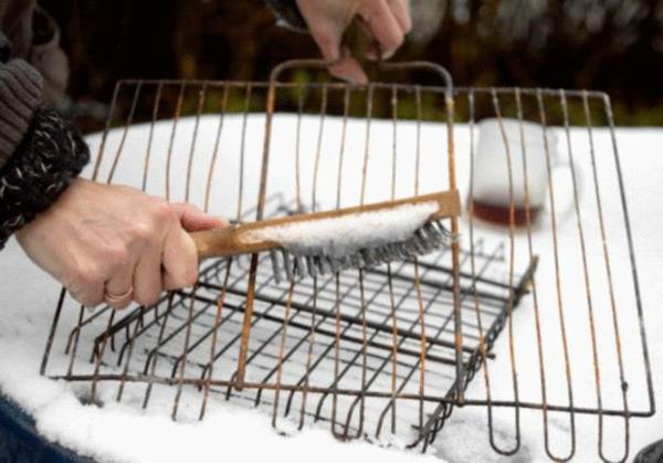 Rost schrubben Schrubber Metallbürste