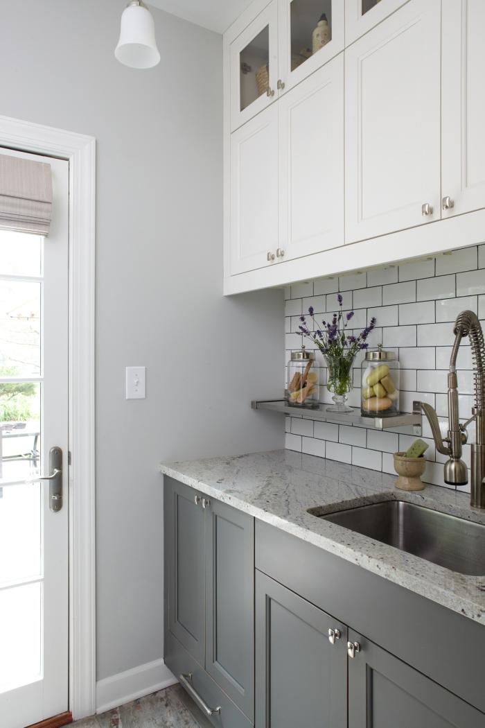 Waschküche Waschbecken praktischer Helfer Handwäsche zum Leeren der Tanks des Trockners