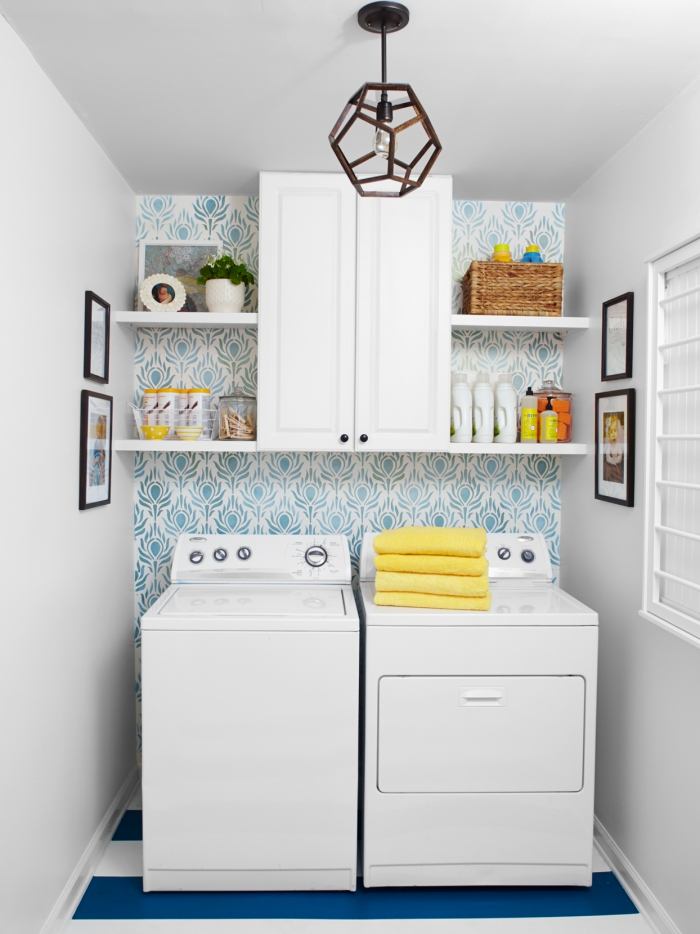 Waschküche auf begrenzter Fläche in einer Nische einrichten aber in bester Ordnung halten