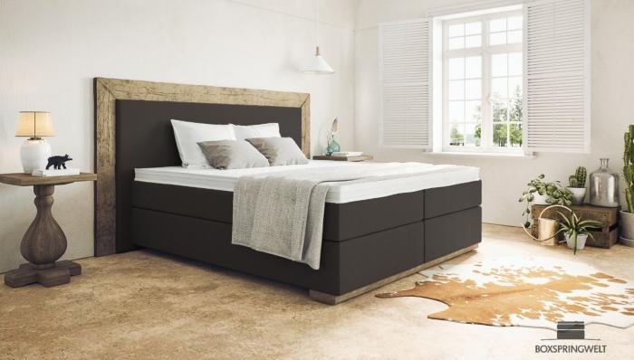 Qual é a altura das camas com colchão de molas e qual é a melhor altura da cama para a peça de realce da cama preta