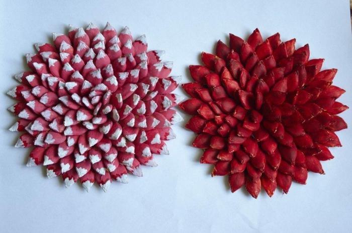 basteln mit kuerbiskernen herbstblumen garten