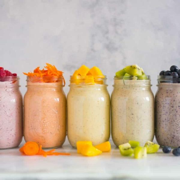 gesundes frühstück ideen mit overnight oats