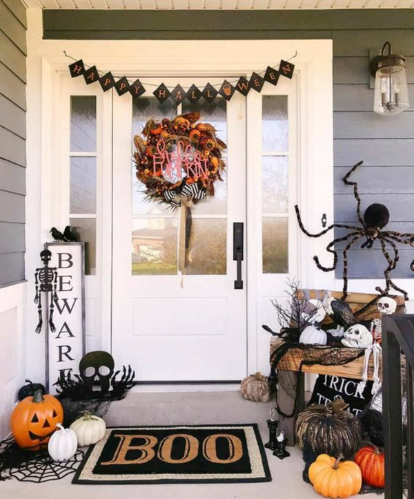 halloween türdeko festliche halloween stimmung schaffen