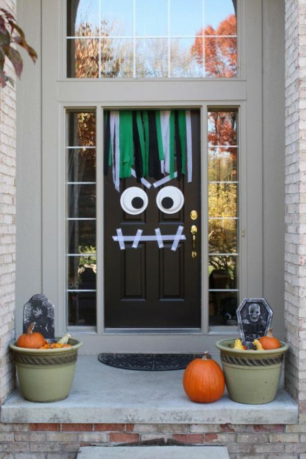 halloween türdeko gesicht halloween deko selber basteln