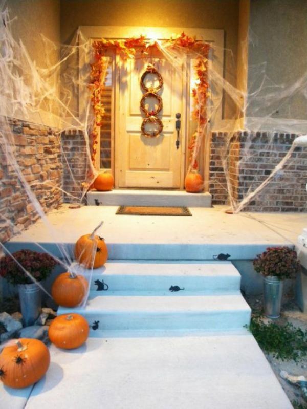 halloween türdeko girlande spinnennetz türkranz