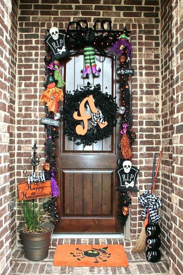 halloween türdeko lustige halloween stimmung schaffen