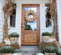 Hauseingang Herbstdeko – 40 Ideen für einen einladenden Hauseingang