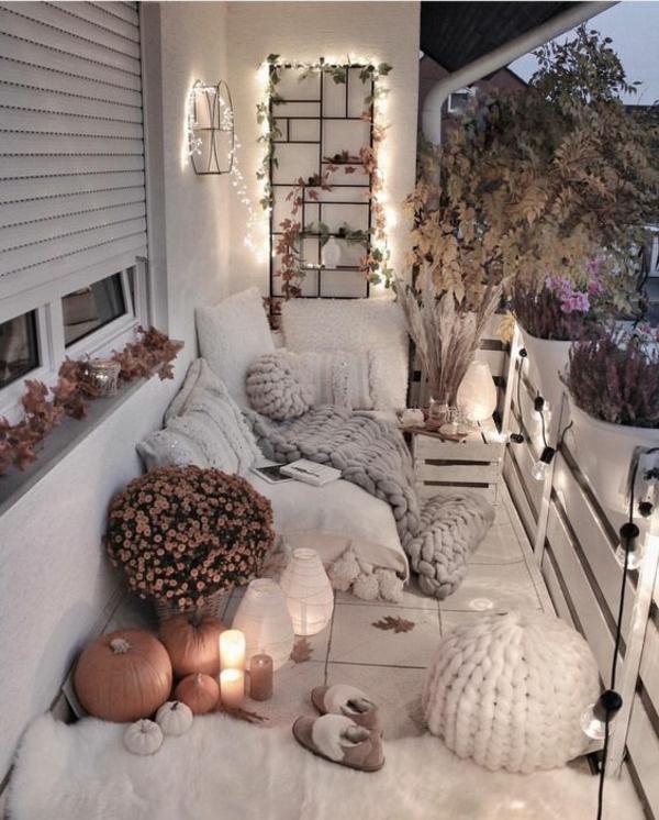 herbstbepflanzung balkon ausgefallene dekoideen herbst frische balkongestaltung