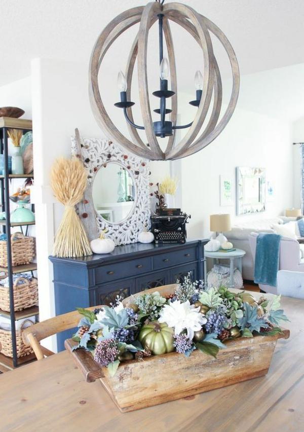 herbstdeko tisch elegante tischdeko rustikaler stil
