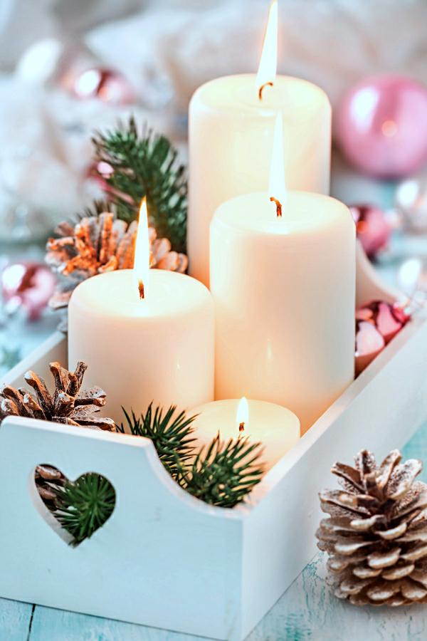 kerzen weihnachtsdeko ideen