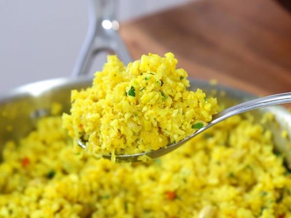 ketogene Rezepte Keto Gerichte mit Reis servieren