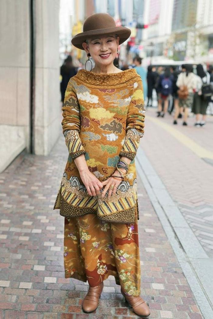 mode ab 60 frauen herbst winter 2021 asiatisch