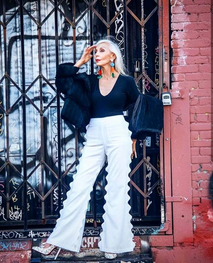 mode ab 60 frauen herbst winter 2021 lange haare