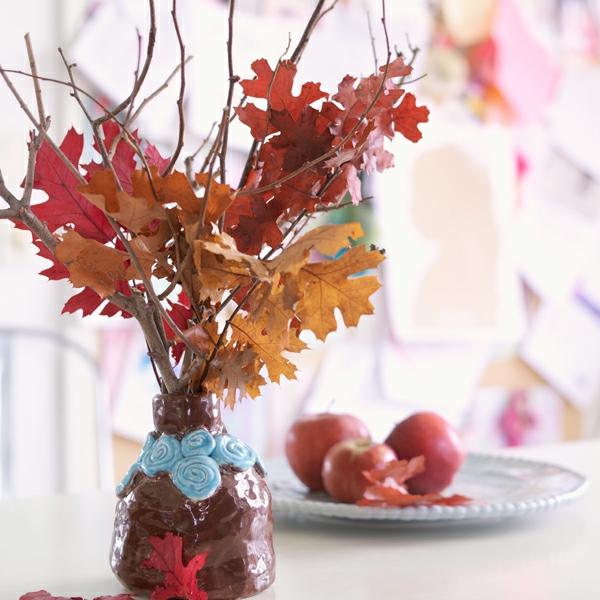 natürliche Deko-Ideen Herbstbasteleien