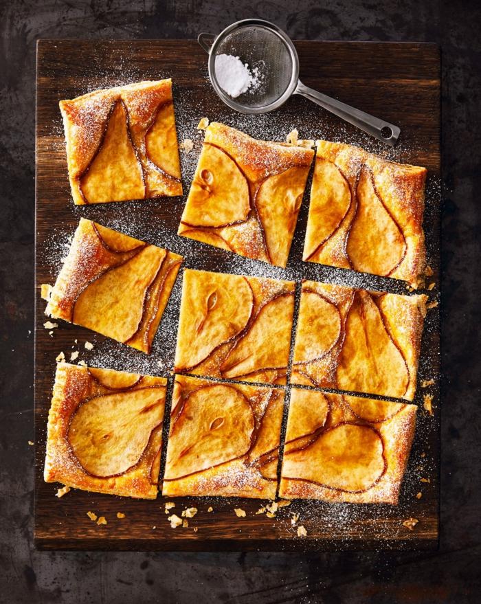 rezepte mit birenen saisoanl kochen birnenkuchen