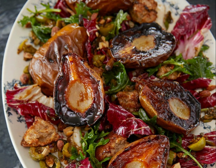 rezepte mit birenen saisoanl kochen hühnerbrust salat