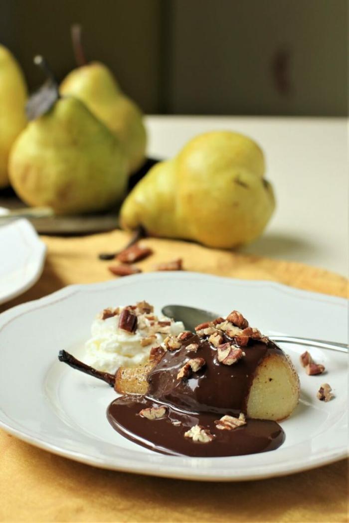 rezepte mit birenen saisoanl kochen suesse speisen desserts mit birnen