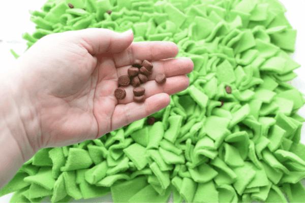 schnüffelteppich selber machen grün