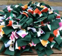 Schnüffelteppich selber machen mit und ohne Nähmaschine