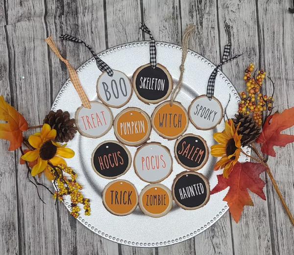 Basteln mit Holzscheiben zum Halloween – kinderleichte DIY Ideen und Anleitung ornamente diy nachrichten