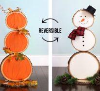 Basteln mit Holzscheiben zu Halloween – kinderleichte DIY Ideen und Anleitung