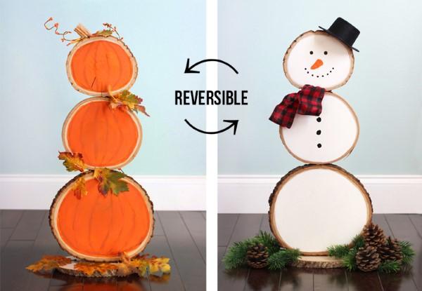 Basteln mit Holzscheiben zum Halloween – kinderleichte DIY Ideen und Anleitung zweiseitige idee diy holz