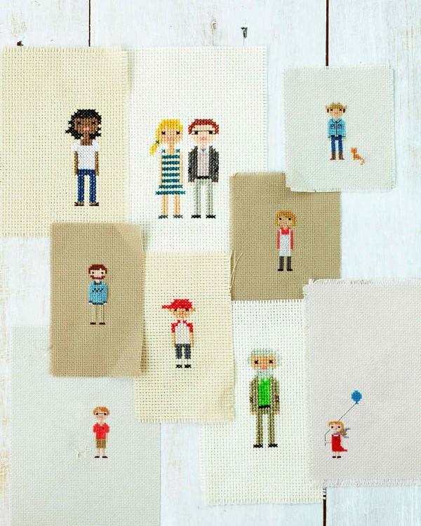 Geschenk für Opa basteln mit Kindern – liebevolle Ideen und 2 einfache DIY Anleitungen familien porträts häkeln