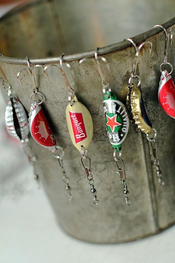 Geschenk für Opa basteln mit Kindern – liebevolle Ideen und 2 einfache DIY Anleitungen fisch köder bier