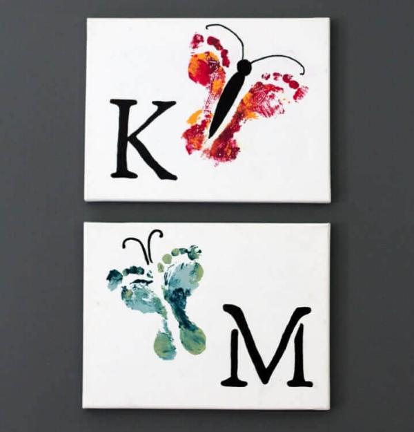 Geschenk für Opa basteln mit Kindern – liebevolle Ideen und 2 einfache DIY Anleitungen hand oder fuß malen kunst
