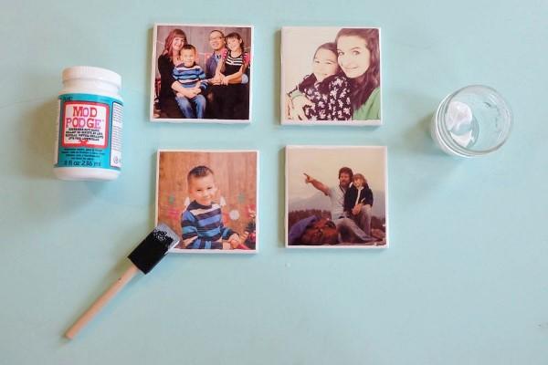 Geschenk für Opa basteln mit Kindern – liebevolle Ideen und 2 einfache DIY Anleitungen magnete familien fotos