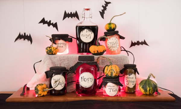 Halloween Buffet – Deko Ideen und Tipps für eine tolle Gruselparty bowle ideen bunt potion