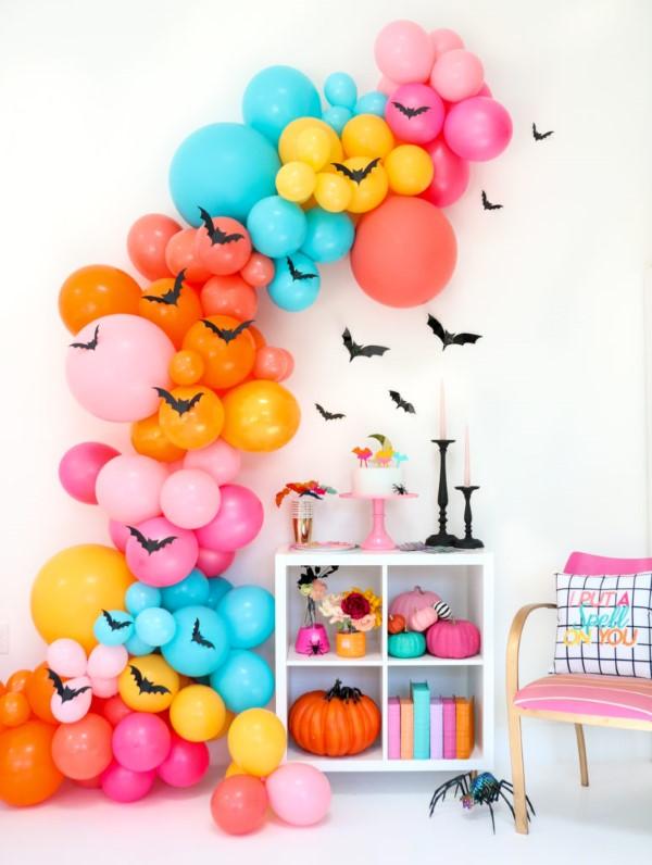 Halloween Buffet – Deko Ideen und Tipps für eine tolle Gruselparty bunte deko halloween