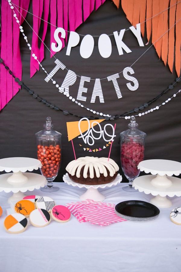 Halloween Buffet – Deko Ideen und Tipps für eine tolle Gruselparty kuchen glasur deko ideen