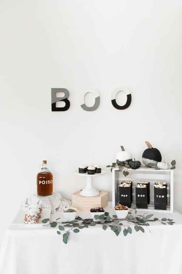 Halloween Buffet – Deko Ideen und Tipps für eine tolle Gruselparty minimalistische deko halloween